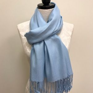 NWT Pashmina Baby Blue Solid Scarf